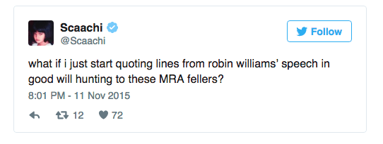 Feminist Writer Trolls Men's Rights Activist With Quotes From Good Will Hunting