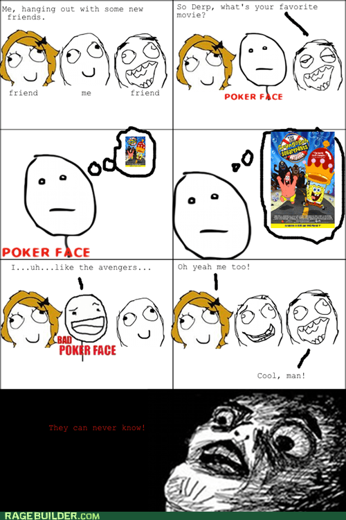 secret,indulgence,Movie,SpongeBob SquarePants,poker face,gasp face