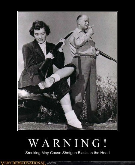 guns warning smoking funny