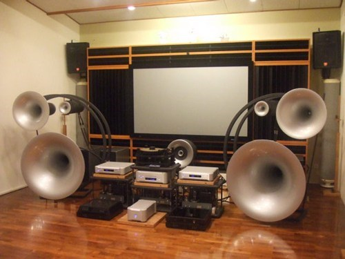 speakers,sound system,movie screen