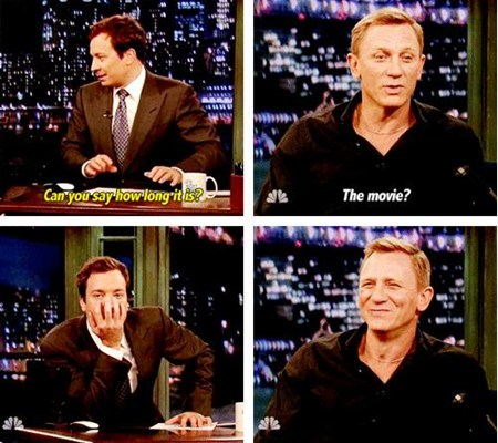 Daniel Craig,jimmy fallon,skyfall,TV,peen jokes