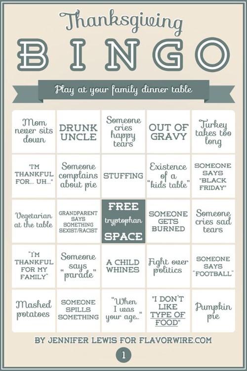 dinner table thanksgiving family bingo - 6795324160