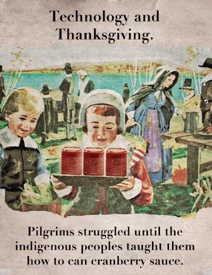 pilgrims thanksgiving technology cranberry sauce