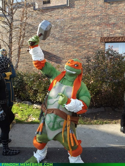 crossover Thor cosplay michelangelo ninja turtles - 6795433728