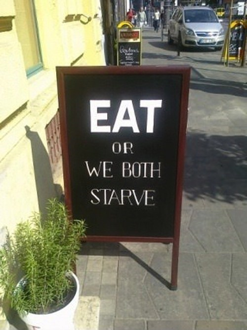 sign,IRL,eat
