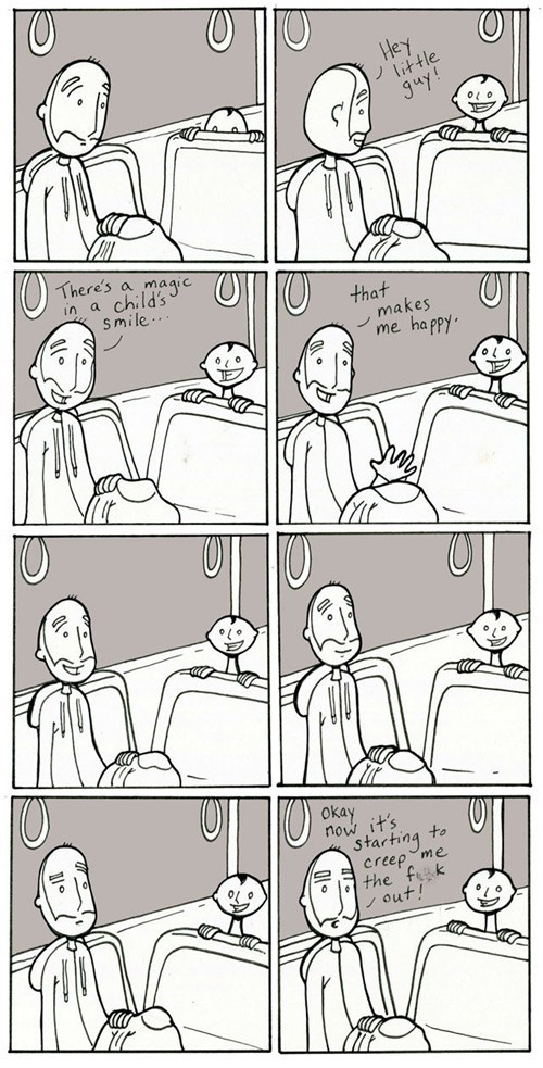 child,creepy,comic,bus