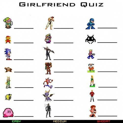 facepalm gamers girlfriend quiz