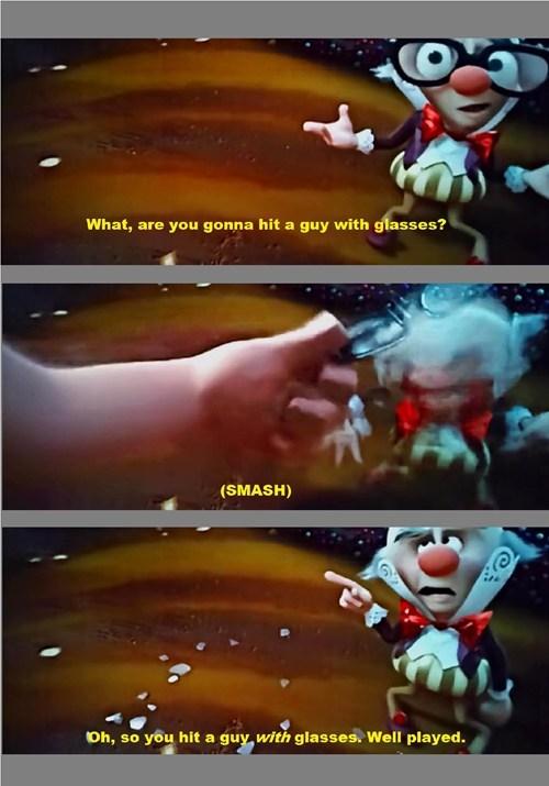 disney,well played,glasses,literalism,pixar,wreck-it ralph,double meaning
