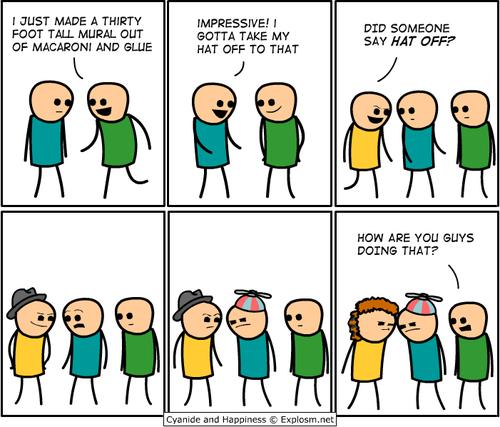 comics cyanide & happiness hats - 6795835136