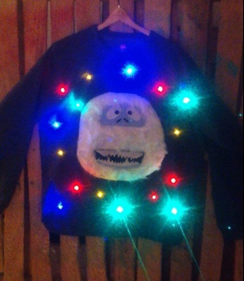 The Abominable Snowman christmas sweaters christmas lights - 6795929856