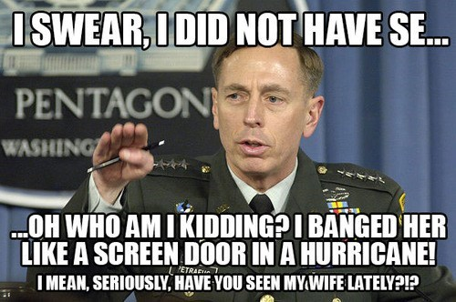 David Petraeus scandal wife quote bill clinton