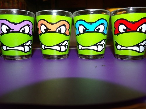 shot glasses TMNT awesome funny after 12 g rated - 6796008192
