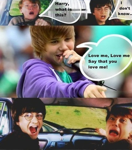 justin beiber Music Harry Potter Movie flying car