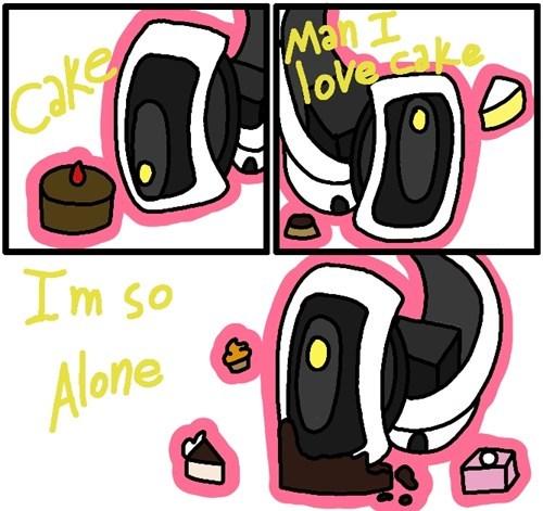 cake,Portal,video games,gladOS