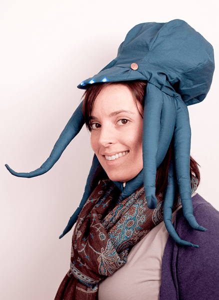 headlamp,octopus,light,tentacles,hat