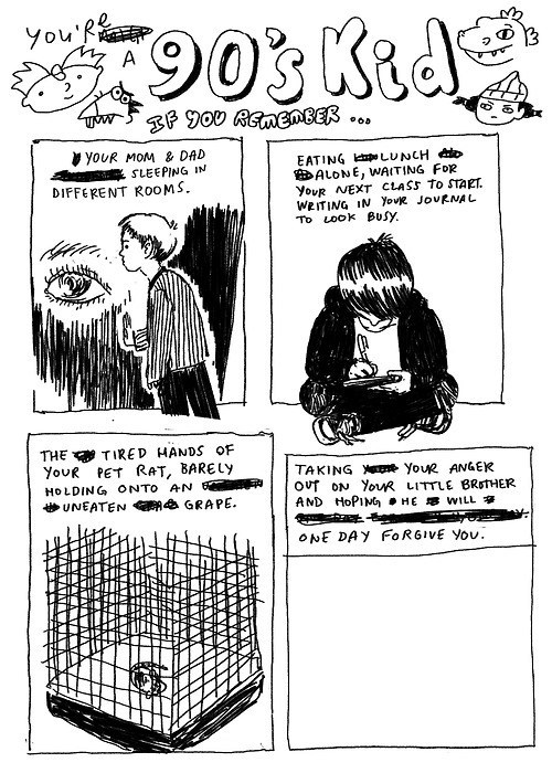 depressing 90s kid comic - 6796215808