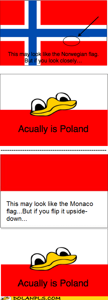 Norway,poland,monaco,flag