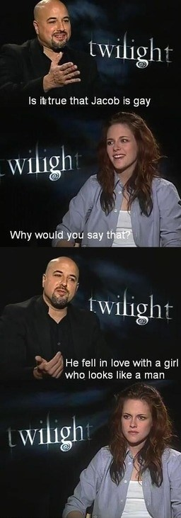 kristen stewart Jacob Movie twilight interview - 6796273920
