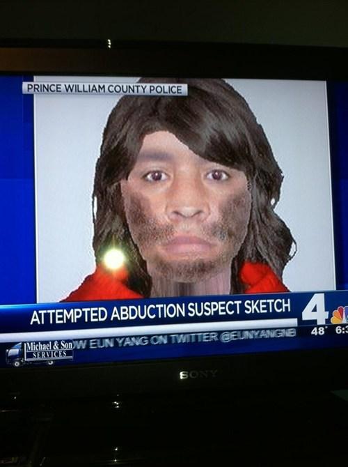 news police sketch weird derp