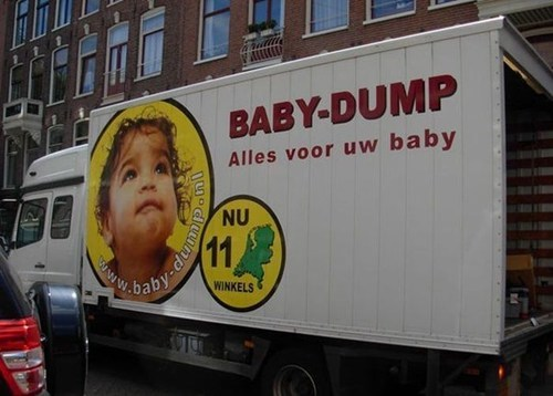 dump baby engrish whoops - 6796657920