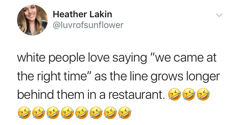 """funny twitter meme, white people love saying, meme. 