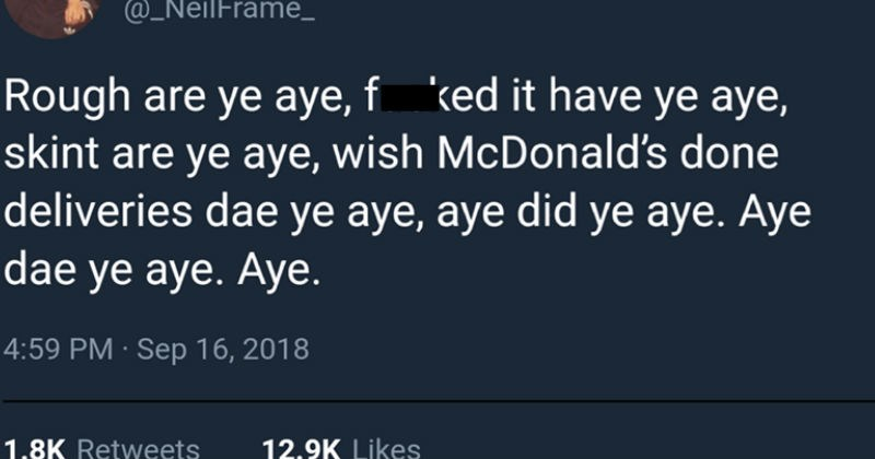 scottish twitter jokes strange language tweets silly dumb stories accent funny - 6797573