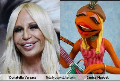 Donatella Versace Totally Looks Like Janice Muppet - Totally Looks Like