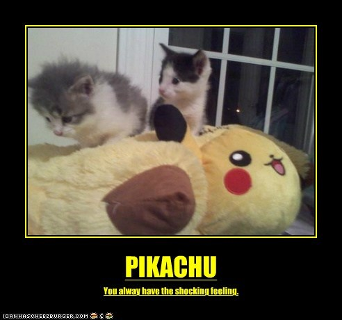 PIKACHU You alway have the shocking feeling.