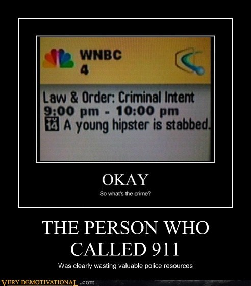 THE PERSON WHO CALLED 911 Was clearly wasting valuable police resources