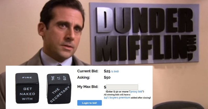 bid bidding auction screenbid the office jim halpert tv shows dwight schrute Dunder Mifflin Michael Scott internet shopping shopping online rainn wilson steve carell - 6800133