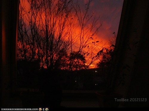 This morning 20121123 Fire in the Sky! (cue Deodato...)