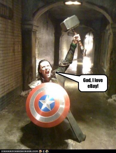 loki tom hiddleston actor Thor The Avengers mjolnir sheild captain america - 6801928704