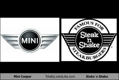 logo TLL steak n shake funny mini cooper - 6802309888