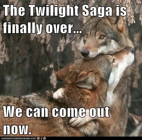 The Twilight Saga is finally over... We can come out now.