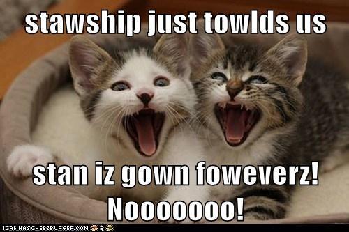 stawship just towlds us    stan iz gown foweverz! Nooooooo!