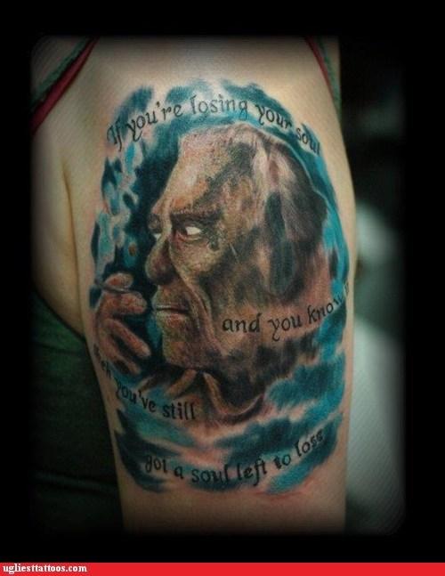 arm tattoos,charles bukowski,soul
