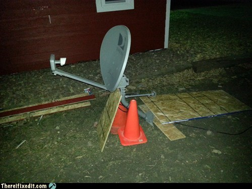 traffic cone satellite dish satellite dish installation - 6804621824