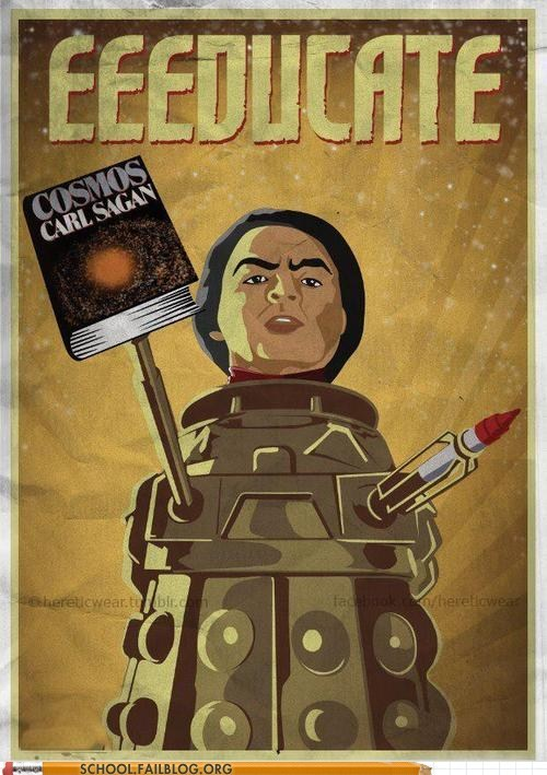 carl sagan,cosmos,daleks,doctor who,power