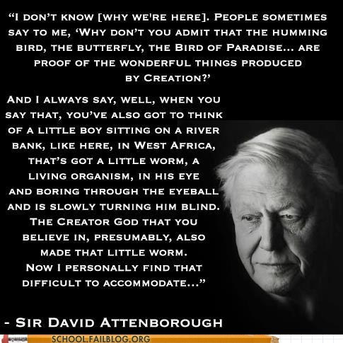 david attenborough,creation,Words Of Wisdom