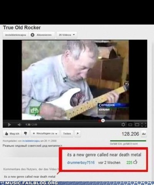 old man youtube comments near death metal