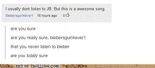 youtube youtube comments funny justin bieber - 6804798464