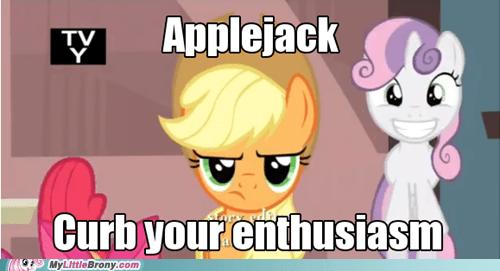 applejack so excited one bad apple - 6805978624