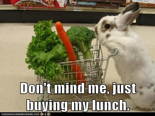 Don't mind me, just buying my lunch.
