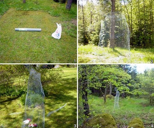 ghost sculpture wire craftmanship prank