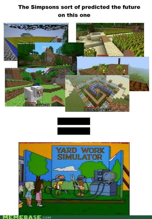 predictions,minecraft,the simpsons