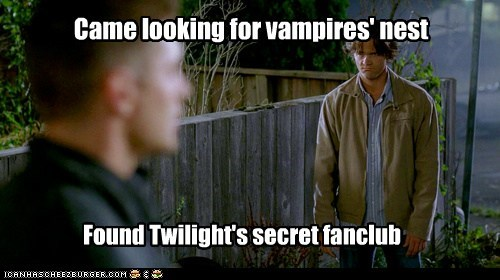 Sad fanclub jensen ackles Supernatural dean winchester vampires sam winchester Jared Padalecki twilight - 6807076096