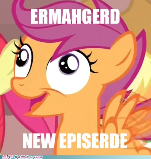 new episode,Ermahgerd,mfw,Scootaloo