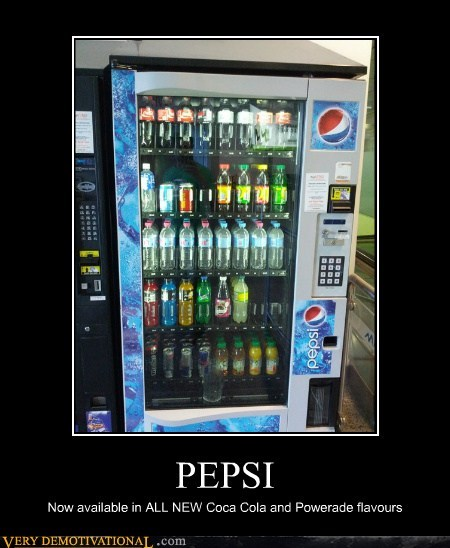 PEPSI Now available in ALL NEW Coca Cola and Powerade flavours