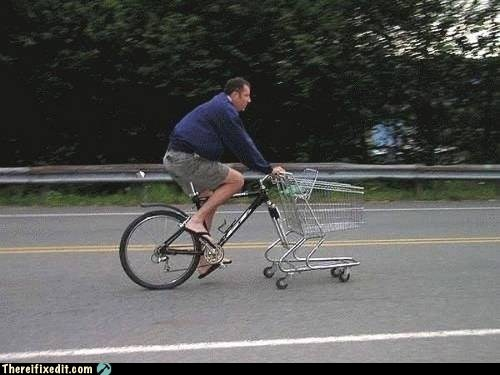 shopping cart bicycle,shopping cart,shopping cart bike,g rated,there I fixed it