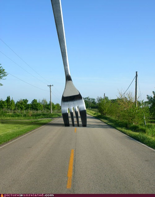 fork in the road giant utensil